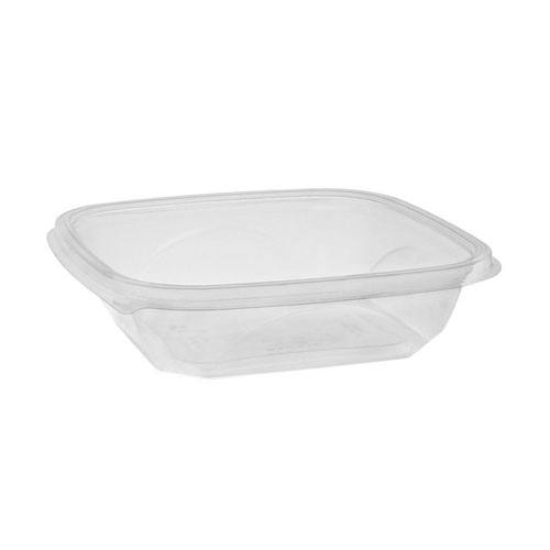 "EarthChoice rPET Clear Square Bowl - 24 oz - 7"" - SAC0724"