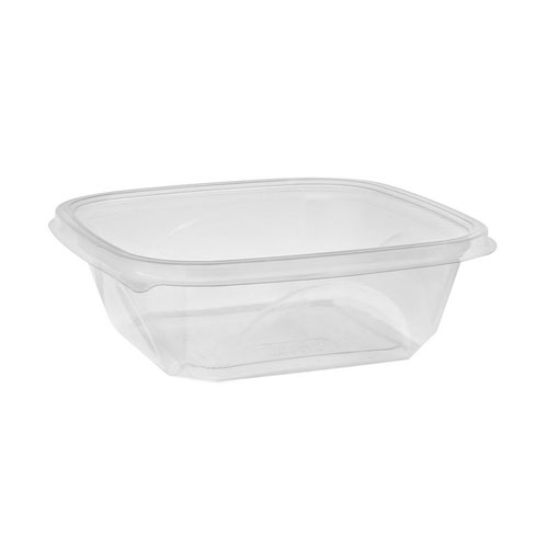 "EarthChoice rPET Clear Square Bowl - 32 oz - 7"" - SAC0732"