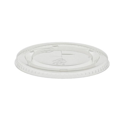 EarthChoice rPET Clear Flat Slot Lid for Cold Cup - 9,10 oz - YLP10C