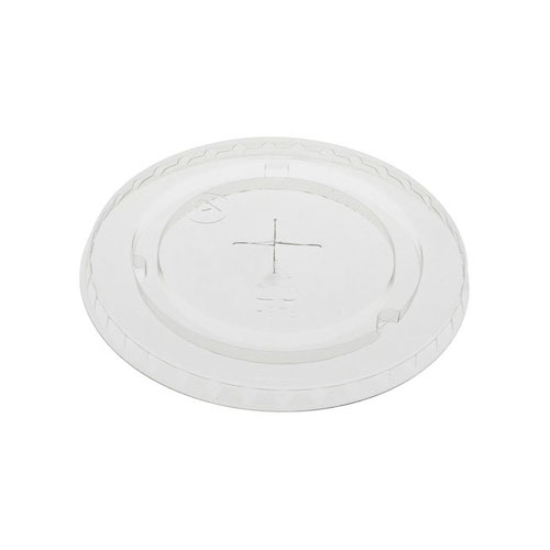 EarthChoice rPET Clear Flat Slot Lid for Cold Cup - 9,12-14,16,20 oz - YLP20C