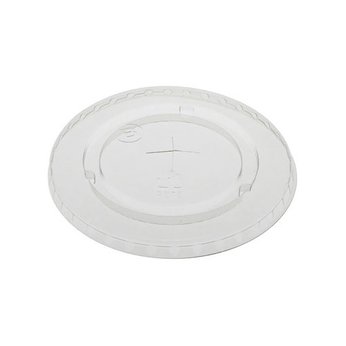 EarthChoice rPET Clear Flat Slot Lid for Cold Cup - 12,16,20,24 oz - YLP24C