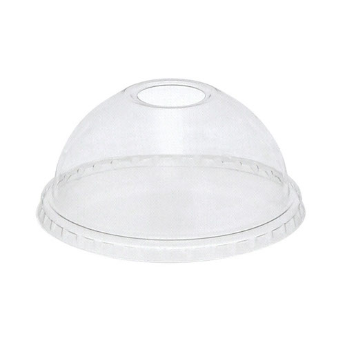 EarthChoice rPET Clear Dome Hole Lid for Cold Cup - 12,16,20,24 oz - YPDL24C
