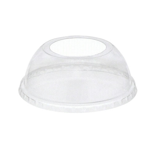 EarthChoice rPET Clear Dome Large Hole Lid for Cold Cup - 12,16,20,24 oz - YPDL24CLH