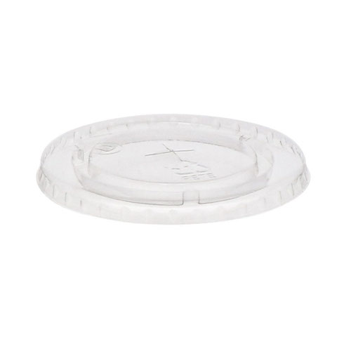 EarthChoice rPET Clear Flat Slot Lid for Cold Cup - 32 oz - YLP32C