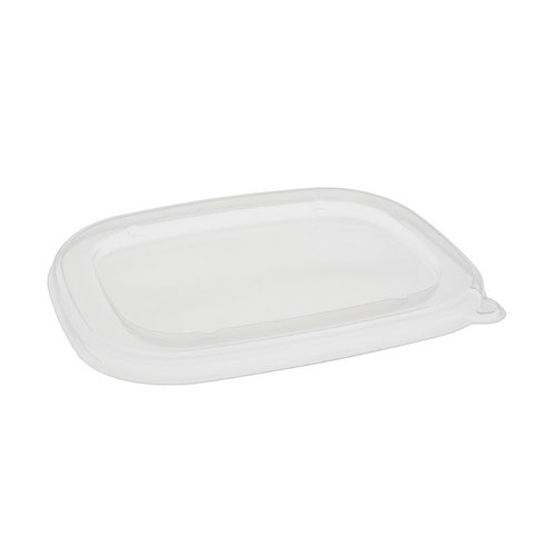 "EarthChoice PP Clear Flat Lid for Rectangular Bowl - 6"" x 8"" - YPPLIDF6X8REC"