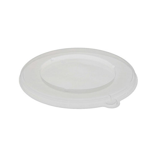 "EarthChoice PP Clear Flat Lid for Round Bowl - 8"" - YPPLIDF8RND"