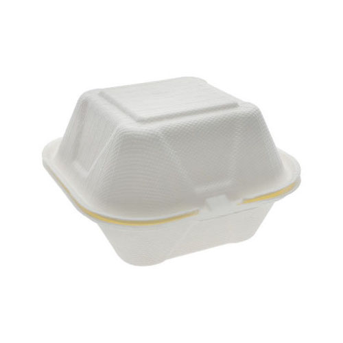 """EarthChoice Fiber Blend Clamshell Hinged Container - 6"""" x 6"""" x 3"""" - YMFH00800000"""