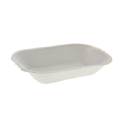 "EarthChoice Fiber Blend Natural Pulrex Tray - 16 oz - 7.5"" x 7.5"" - M633523"