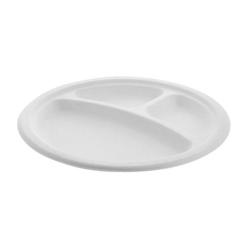 "EarthChoice Fiber Blend Round 3 Compartment Plate - 9"" - YMC500110002"