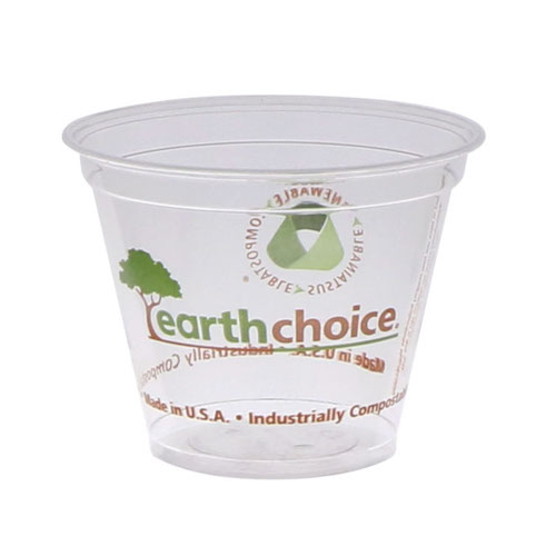 EarthChoice PLA Clear Print Cold Cup - 9 oz - YPLA9CEC