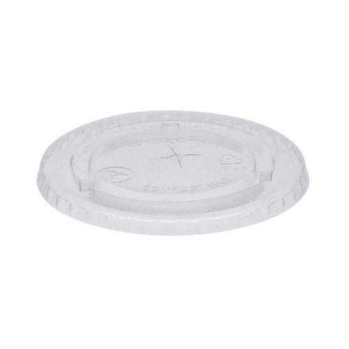 EarthChoice PLA Clear Flat Slot Lid for Cold Cup - 9 oz - YLPLA20C