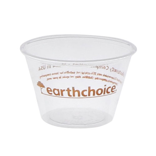 EarthChoice PLA Clear Portion Cup - 4 oz - YSPLA400EC