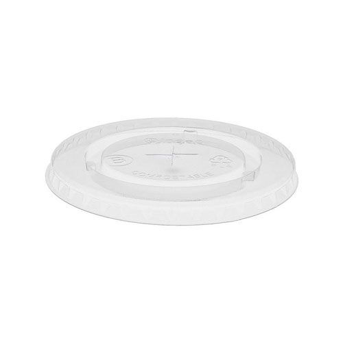 EarthChoice PLA Clear Flat Slot Lid for Cold Cup - 12-14,16-18,20,24 oz - YLPLA24C