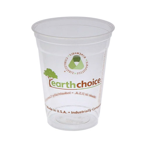 EarthChoice PLA Clear Print Cold Cup - 16-18 oz - YPLA160CEC