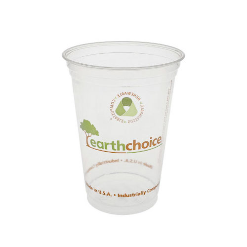 EarthChoice PLA Clear Print Cold Cup - 20 oz - YPLA21CEC