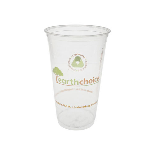 EarthChoice PLA Clear Print Cold Cup - 24 oz - YPLA24CEC