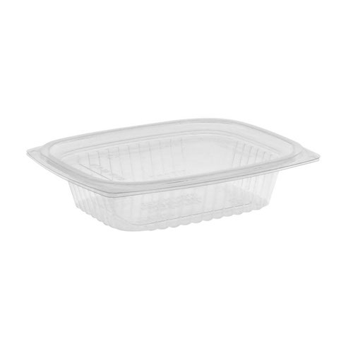"EarthChoice PLA Clear Deli Lid Container - 8 oz - 5.9"" x 4.9"" x 1.25"" - YLI860080000"