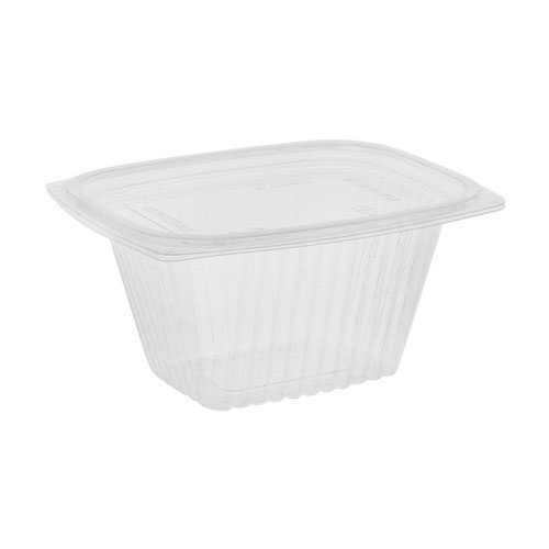 "EarthChoice PLA Clear Deli Lid Container - 16 oz - 5.9"" x 4.9"" x 2.75"" - YLI860160000"