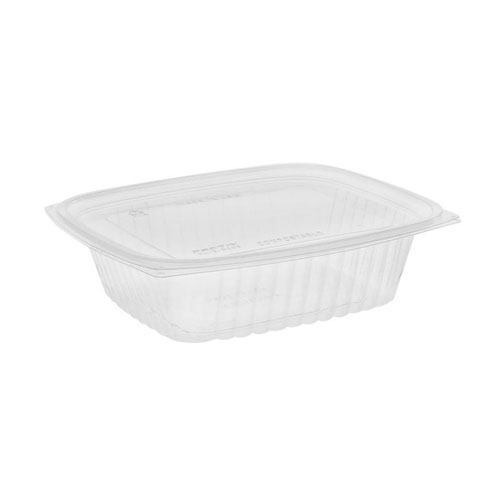 "EarthChoice PLA Clear Deli Lid Container - 24 oz - 7.5"" x 6.5"" x 2"" - YLI860240000"