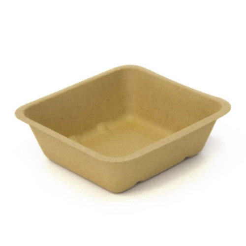 "BeGreen Fiber Food Tray - 24 oz - 6.5"" x 6"" - BG-FT-24 - 500/Case"