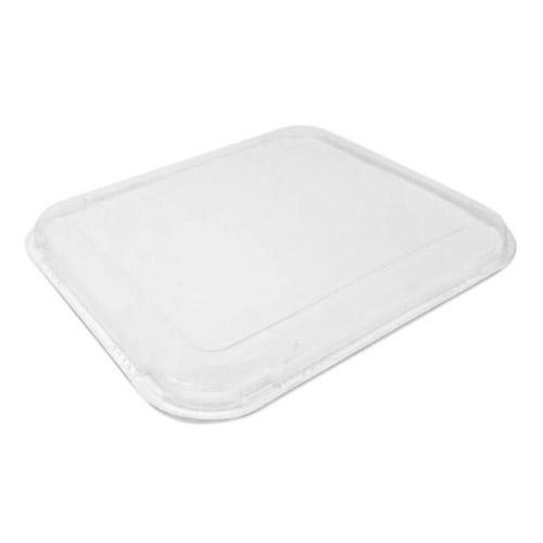 "BeGreen PET Clear Flat Lid for Food Tray - 6.5"" x 6"" - BG-FT-FPL - 500/Case"