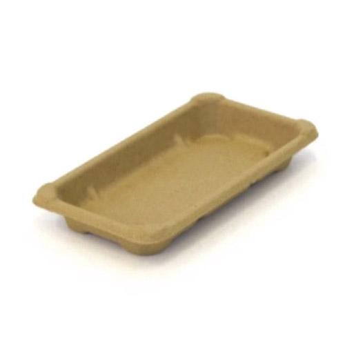 "BeGreen Fiber Sushi Tray - 6.5"" x 3.5"" - BG-ST-1 - 1,000/Case"