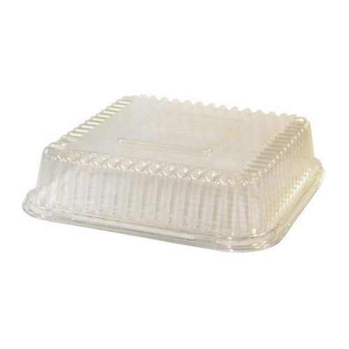 "BeGreen PET Clear Dome Lid for Food Tray - 6.5"" x 6"" - BG-FT-DPL - 500/Case"