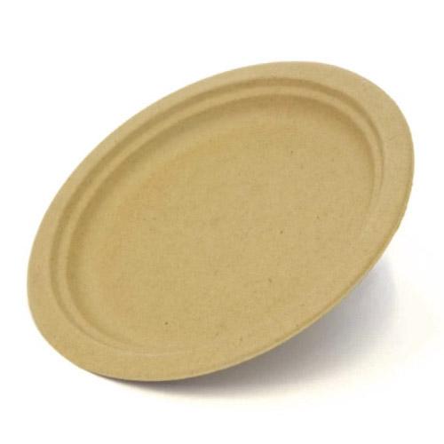 "BeGreen Fiber Round Plate - 9"" - BG-P009 - 500/Case"