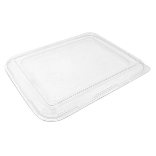 "BeGreen PET Clear Flat Lid for Utility Tray - 9"" x 7"" - BG-UT-FPL - 500/Case"