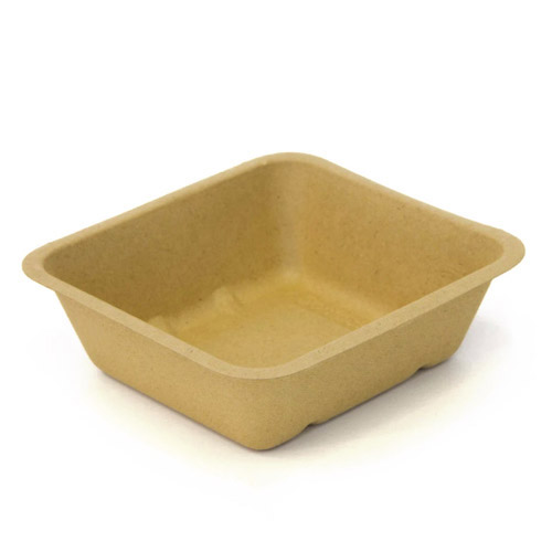 "BeGreen Fiber Food Tray - 34 oz - 6.5"" x 6"" - BG-FT-34 - 500/Case"