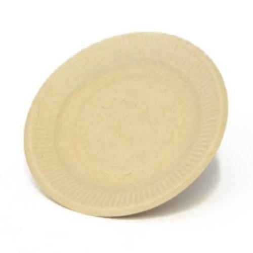 "BeGreen Fiber Round Plate - 6"" - BG-P006 - 1,000/Case"