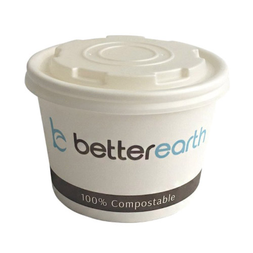 BetterEarth Paper PLA Lined Food Container - 8 oz - BE-SC8PLA