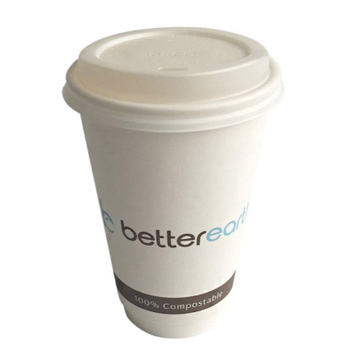 BetterEarth Paper PLA Lined Double Wall Cup - 16 oz - BE-DWHC16PLA