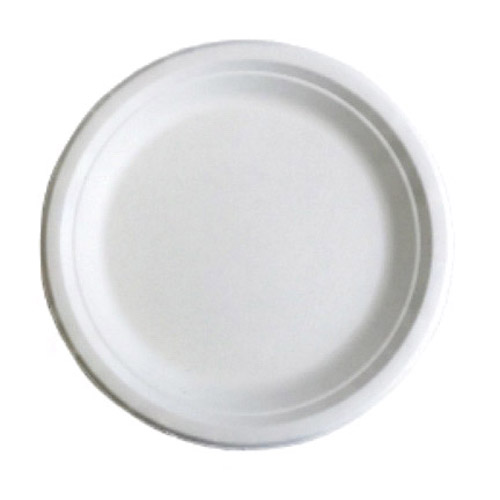 "BetterEarth Sugarcane White Round Plate - 6"" - BE-FRP6"
