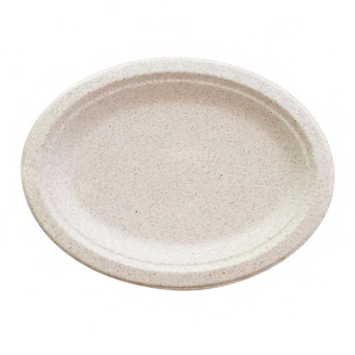 "BetterEarth Fiber Blend Oval Platter - 10"" x 7"" - BE-ECFOP710"