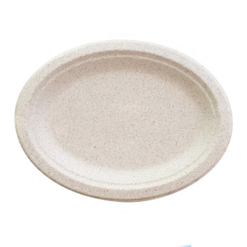"BetterEarth Fiber Blend Oval Platter - 10"" x 12"" - BE-ECFOP1012"