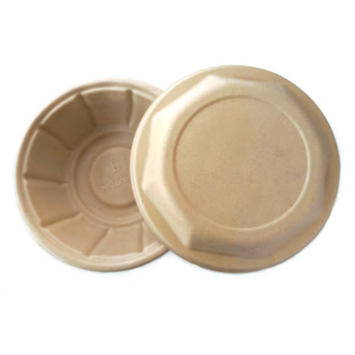 BetterEarth Fiber Bamboo Dome Lid for Round Bowl - 24-48 oz - BE-FRBL32EB