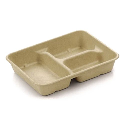"BeGreen Fiber Utility Tray 3 Compartment - 32 oz - 9"" x 7"" - BG-UT-133"
