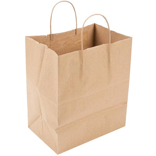 Pro-Pak Natural Kraft Paper Bag Twist Handle 70lb - 12 in x 9 in x 15.75 in - PB12915