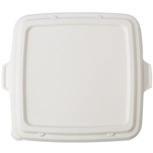 Conserveware Sugarcane Square Lid for 3 Compartment Tray - 9 in. - 42STBFL9