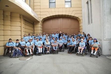 Conan O'Brien Visits Wheelchair Tennis Campers