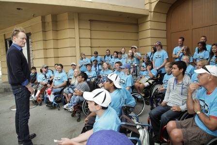 Conan O'Brien Visits Wheelchair Tennis Campers