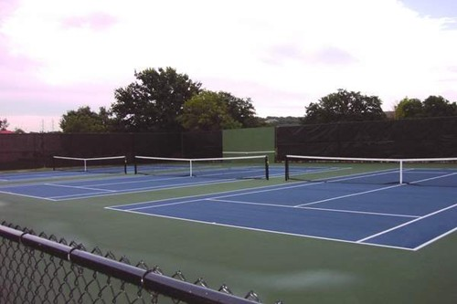 Three stand alone 60' tennis courts. As players progress their skills they move from a 36' tennis co