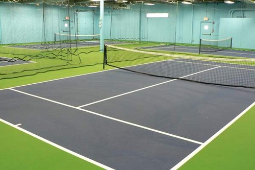 Four indoor stand alone 36' tennis courts. 36' tennis courts can be located anywhere there is a flat
