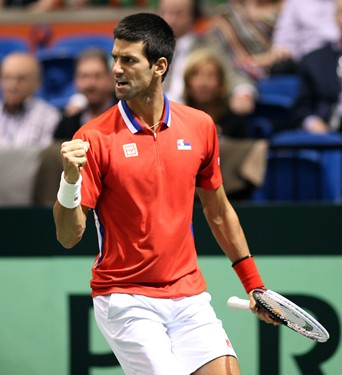 2013 Davis Cup: U.S. vs. Serbia, Day 1 Action
