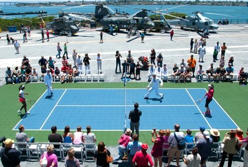 2012 Mercury Insurance Open: Aboard The USS Midway