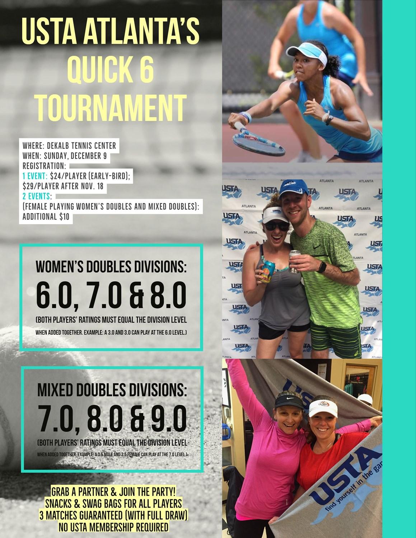 Quick 6 Tournament Now Registering! | USTA Georgia News