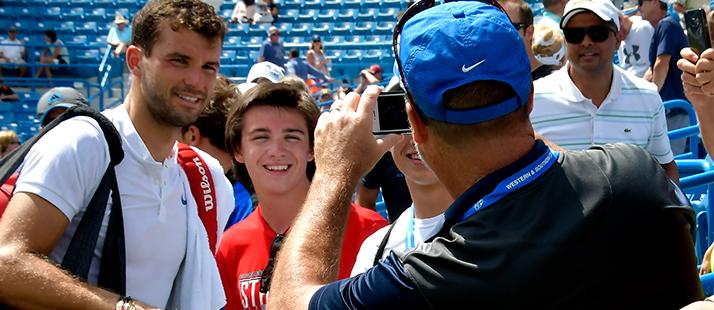 Grigor Dimitrov with fan