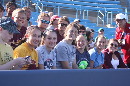 HS students experienced a fun-filled Sunday of exhibition & training sessions with touring pros.