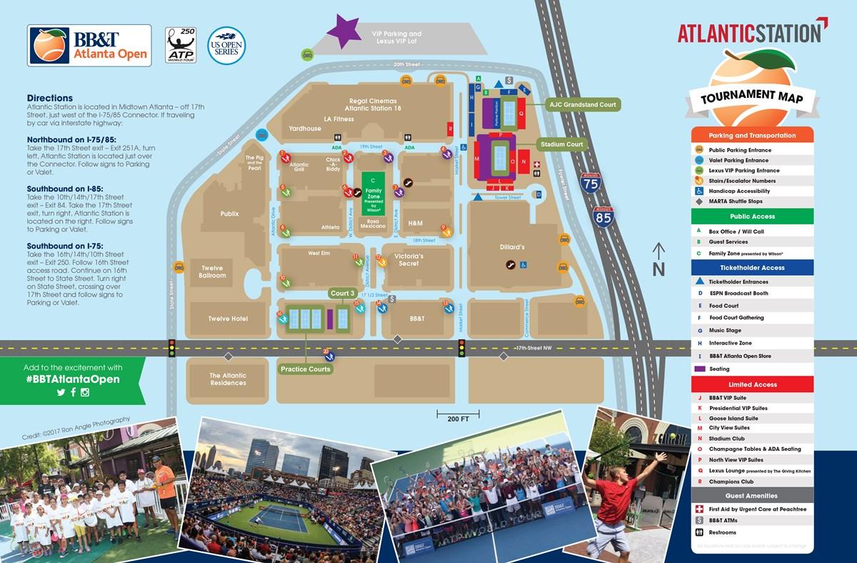 Atlantic Station Map Atlantic Station Site Map | BB&T Atlanta Open